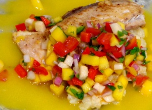 Red Snapper with Mango Salsa