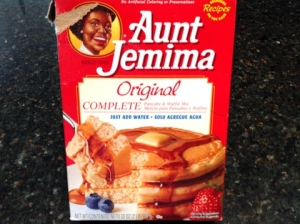 "Just follow the ""all you do is add water"" directions for the amount of pancake mix you are going to use"