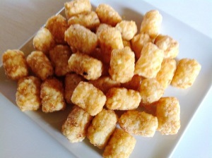 Tater Tots thawed at room temperature