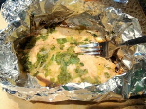 Here is the finished product, ready to be brought in and be the main attraction of the fish taco!