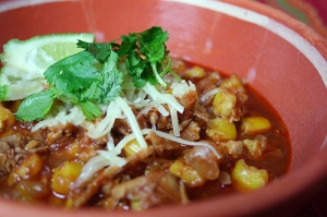 Posole is like a marriage of chili & gumbo...and the longer you let it sit, the better it tastes!